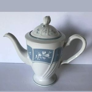 Vintage Noritake Victory Blue Coffee Pot